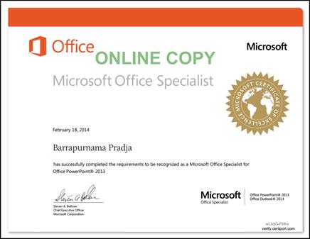 Mengenal Microsoft Office Specialist 2013 Mos Barrapradja